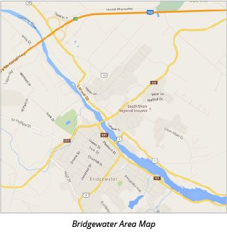 Bridgewater Area Map