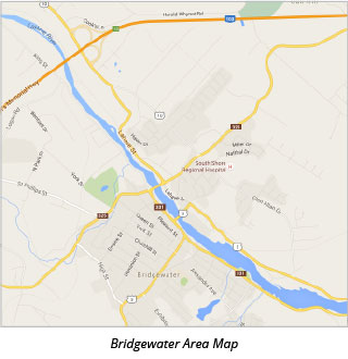 Bridgwater Area Map